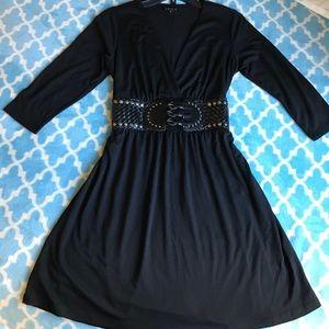Black belted dress by Venus